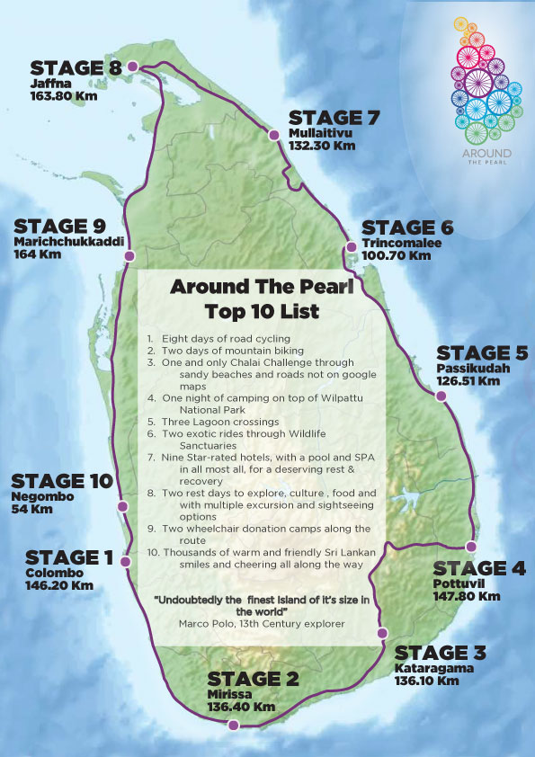 Around the pearl | Riding Map